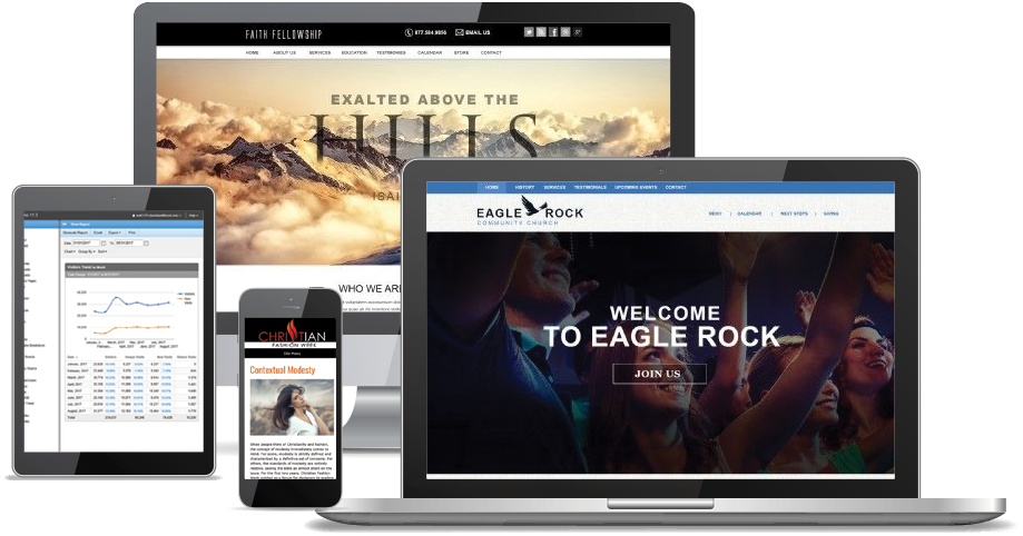 NetMinistry Web presence Platform for Church Websites and Ministry Websites