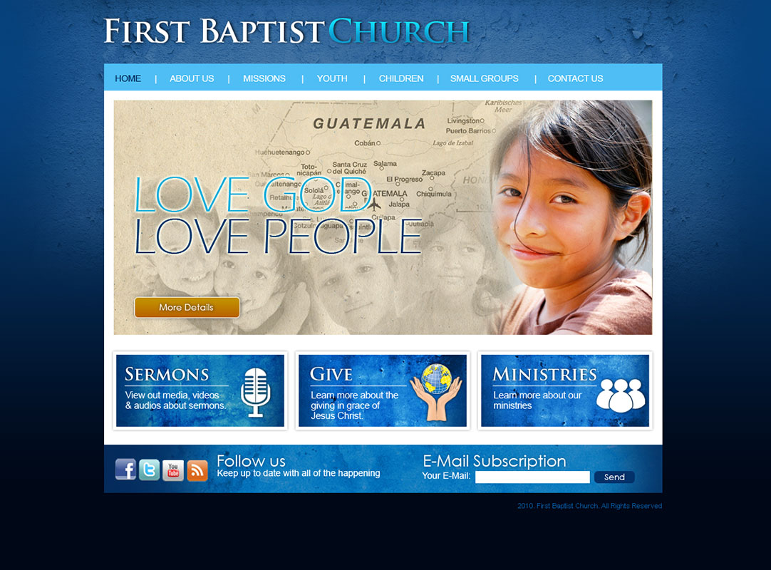 browse through this small sampling of the church websites we have created over the years all of these designs were created in house by our staff - Church Website Design Ideas