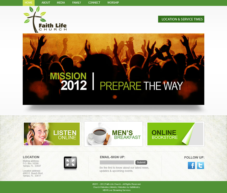 check out these examples of church website designs - Church Website Design Ideas