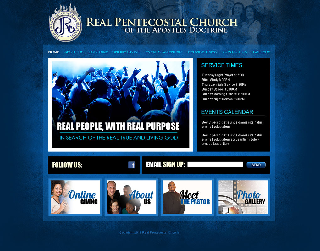 Church website design and church logo design - Home decorating websites gallery ...