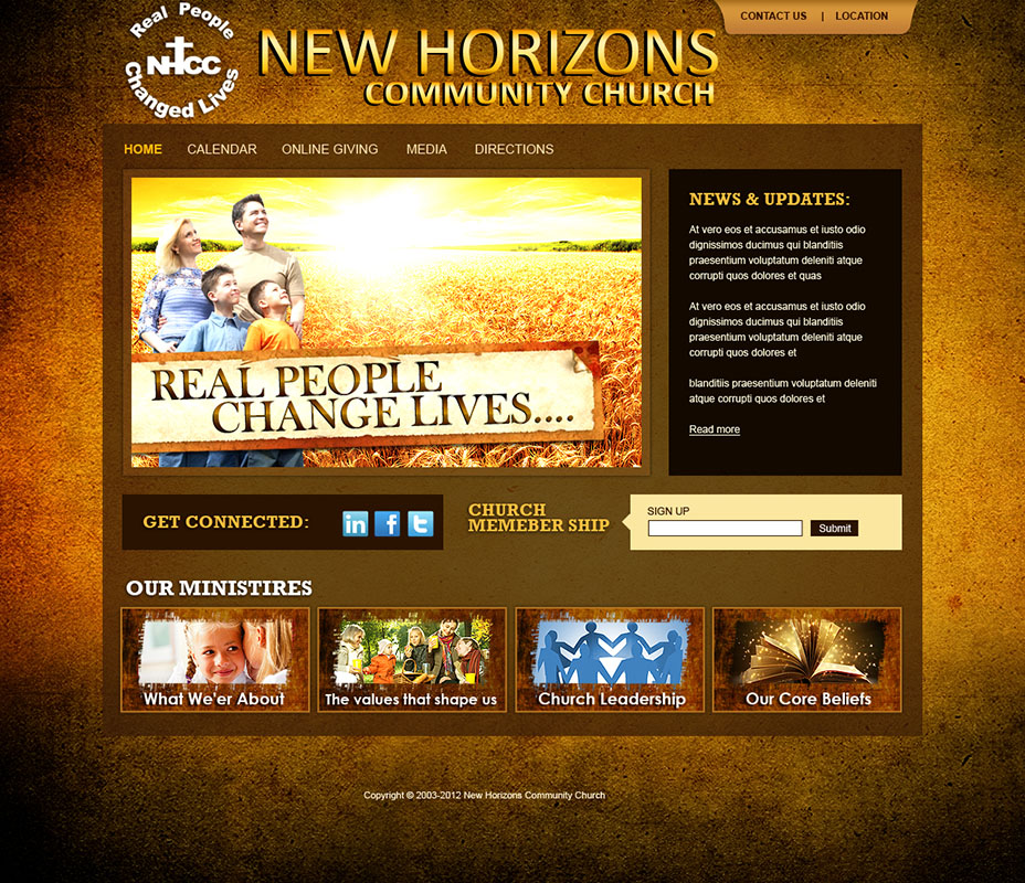 Website Design And Church Logo Design - Church website templates