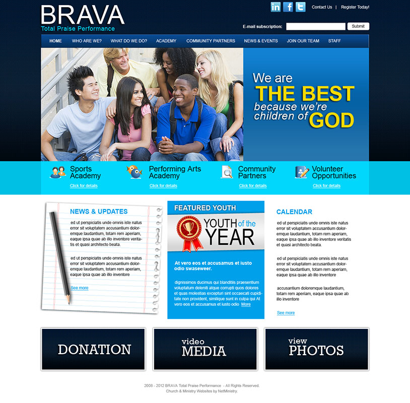 free church website templates - website services for churches ministries and christian